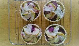 apple beetroot cheese tarts