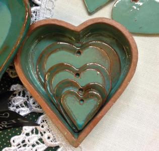 AX Heart Pottery Craft