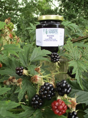 Blackberries growing with Jam